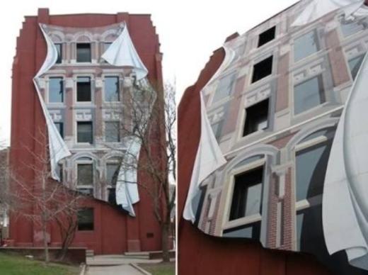 Tòa nhà này trông 'ảo diệu' quá phải không nào?