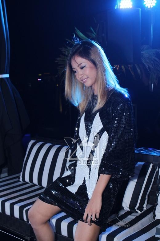 Suboi trong VIP Party dành cho Demi Lovato và các nghệ sĩ Việt ngay trước YAN Beatfest 2015.