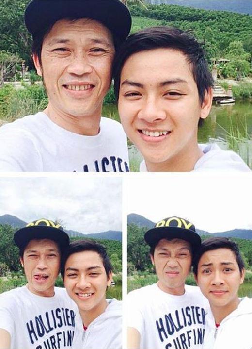 Cũng một thời gian khá dài, mọi người mới thấy lại được hình ảnh tình cảm của cha con Hoài Linh - Hoài Lâm.Mới đây nhất, anh chàng này đã chia sẻ hình ảnh trên cùng với một câu hỏi ngộ nghĩnh dành cho fans 'Mọi người thấy ai cute hơn?'