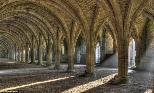 Tu viện Fountains Abbey nằm cách khoảng 3 dặm về phía tây nam Ripon ở North Yorkshire. Đây là tu viện lớn nhất cũng là di tích theo dòng thánh Xi-tô được bảo tồn tốt nhất trong số các tu viện tại Anh. Fountains Abbey được xây dựng bởi các tu sĩ theo dòng thánh Bê-nê-đích bị trục xuất khỏi St Mary's Abbery vào đầu thế kỉ 12. Sau đó, tu viện hoạt động đến năm 1539 thì bị Vua Henry VIII ra lệnh phá hủy.