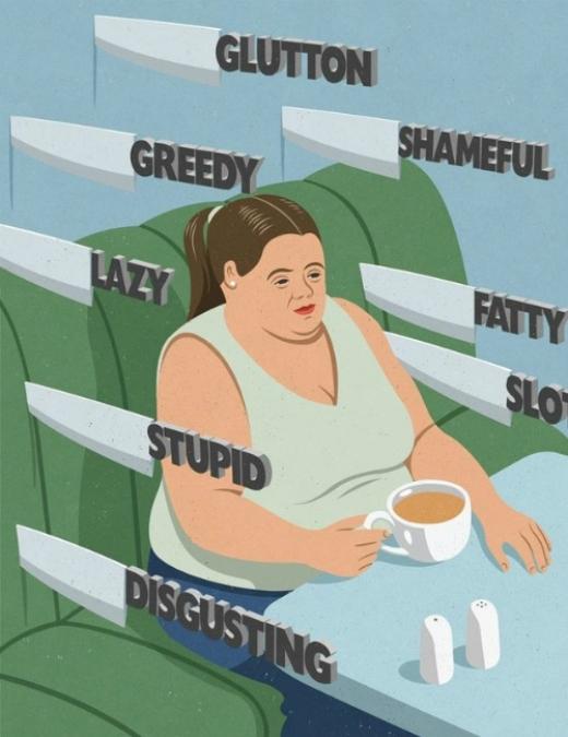 Những người nặng cân vẫn thường hay mắc phải những định kiến như ngu ngốc, cáu bẳn, lười biếng, tham lam,...