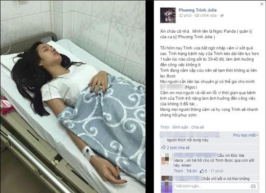 Quản lý của Phương Trinh Joile chia sẻ về bệnh của cô trên trang fanpage. - Tin sao Viet - Tin tuc sao Viet - Scandal sao Viet - Tin tuc cua Sao - Tin cua Sao