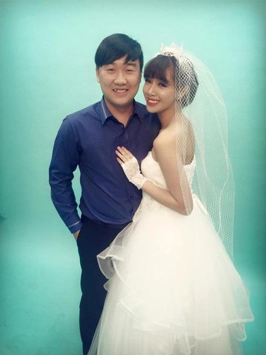 Hà Min cùng bạn trai đi thử váy cưới.