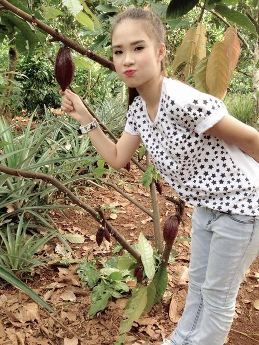 'Có ai biết trái gì đây không nào?' -tiết mục đố vui về trái cây luôn xuất hiện trên trang cá nhân của Khởi My - Tin sao Viet - Tin tuc sao Viet - Scandal sao Viet - Tin tuc cua Sao - Tin cua Sao