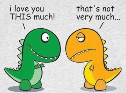 Tôi yêu em nhiều! Nhưng điều đó không có nghĩa là rất nhiều…