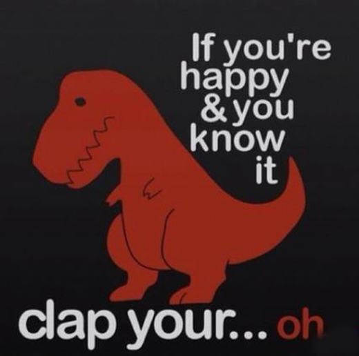 Bàn tay quá ngắn khiến chú khủng long T-Rex này không thể vỗ tay. Đôi khi, việc thể hiện hạnh phúc cũng khó!
