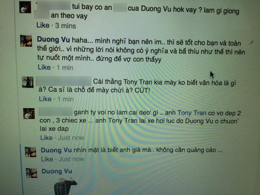 Sau màn đáp trả của Dương Triệu Vũ, bạn anti-fan vẫn không chịu dừng lại. - Tin sao Viet - Tin tuc sao Viet - Scandal sao Viet - Tin tuc cua Sao - Tin cua Sao