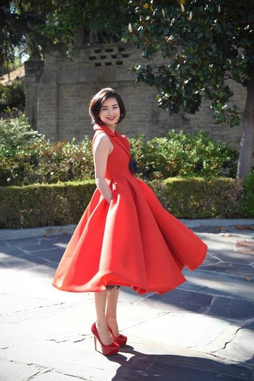 Ngô Thanh Vân trẻ trung nhưng cũng không kém phần quyến rũ khi chọn cho mình một chiếc váy bồng bềnh. - Tin sao Viet - Tin tuc sao Viet - Scandal sao Viet - Tin tuc cua Sao - Tin cua Sao