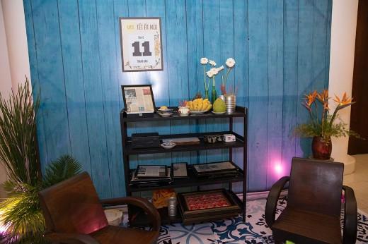 Nội thất phòng khách của một ngôi nhà Sài Gòn xưa