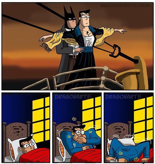 Ác mộng của Superman là làm 'nàng Rose' cho Batman.