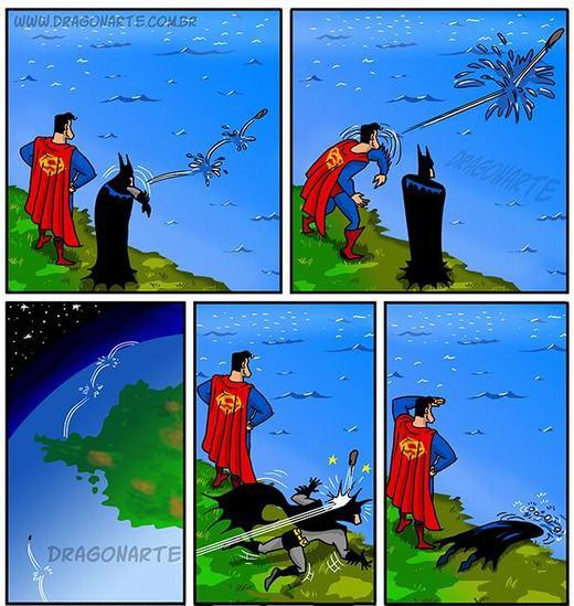 Khi Superman ném đá nhảy bước...