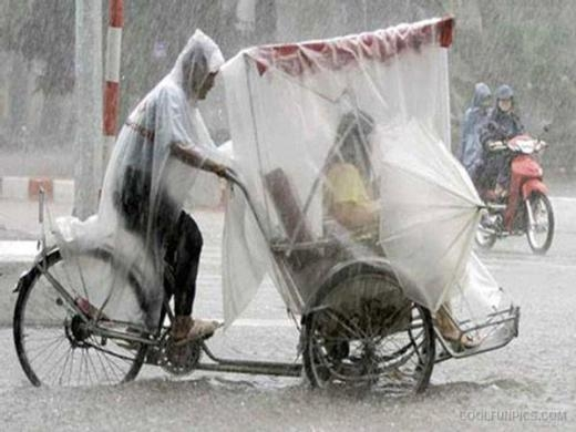 Dịch vụ trọn gói chu đáo cả trong ngày mưa