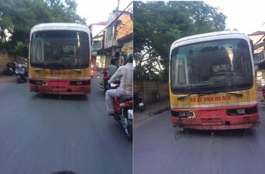 Hình ảnh về chiếc xe buýt 'ma' ở Hà Nội gây xôn xao cộng đồng mạng thời gian qua