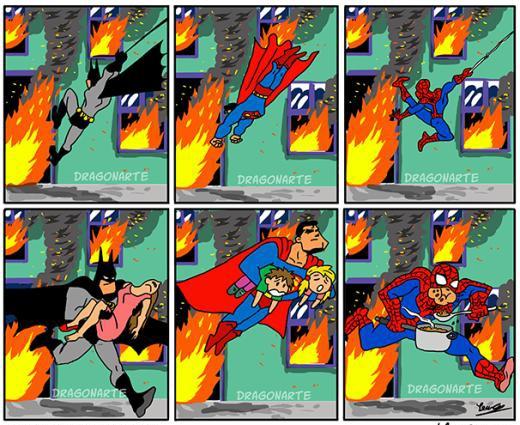 Khi các siêu nhân cứu người giữa biển lửa.