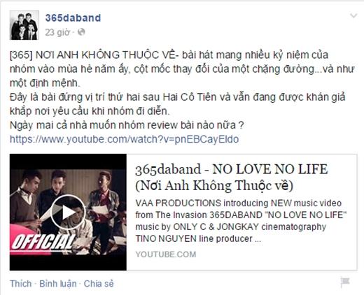 Những status ôn lại kỷ niệm của nhóm trên fanpage. - Tin sao Viet - Tin tuc sao Viet - Scandal sao Viet - Tin tuc cua Sao - Tin cua Sao