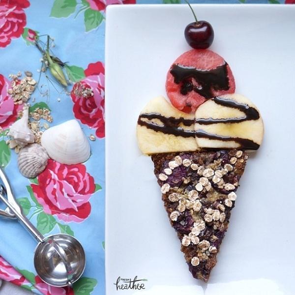 Có ai nhìn lầm chiếc bánh này thành một cây kem mát lạnh ngon lành không?