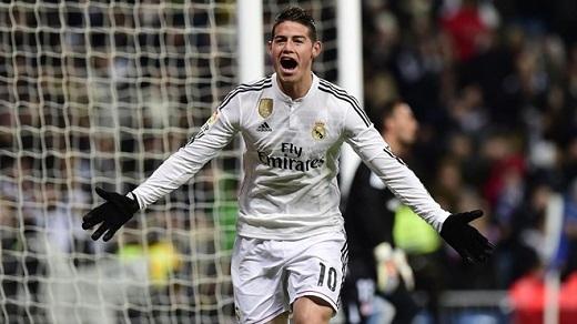 James Rodriguez (29 triệu USD): James Rodriguez cho thấy xứng đáng với việc nhận 24,5 triệu USD ở Real Madrid. Trong mùa đầu chơi cho đội bóng Hoàng gia, anh ghi 15 bàn và thực hiện 17 pha kiến tạo. Tiền vệ người Colombia còn là gương mặt đại diện cho 6 hãng gồm Adidas, Hugo Boss, Huawei, Pepsi, Bronzini Black và Gatorade. Anh bỏ túi 4,5 triệu USD khi tham gia quảng cáo cho các thương hiệu trên.
