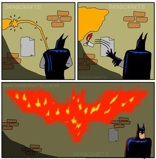Đi tè phong cách Batman