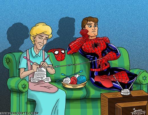 Nỗi niềm của Spider Man.