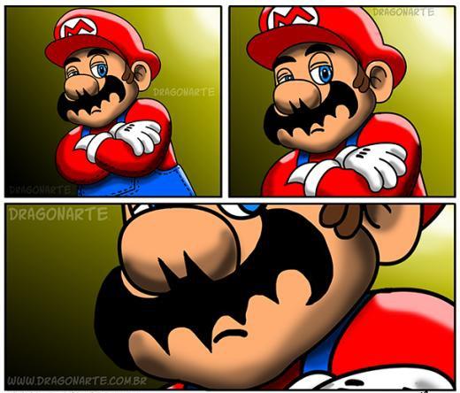 Super Mario có bộ râu giống biểu tượng của... Batman