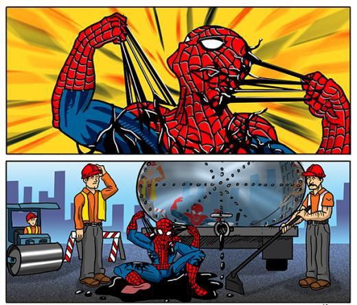 Spider Man bị gì thế nhỉ?