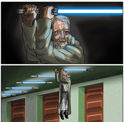 'Gươm ánh sáng của ta đây!'.