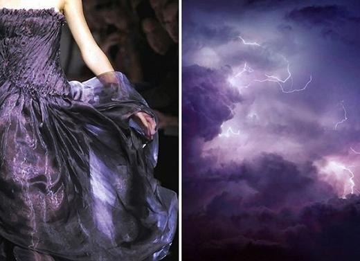 Ngay cả những cơn sấm sét rùng mình cũng trở thành nguồn cảm hứng cho những chiếc váy dạ hội lộng lẫy.