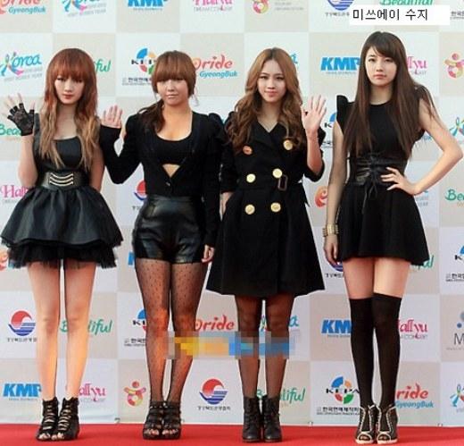 Không chỉ vượt trội về nhan sắc, Suzy còn 'ăn đứt' các thành viên còn lại với chiều cao nổi bật.