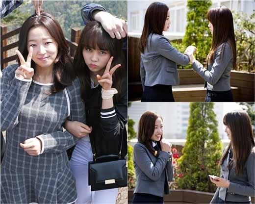 Soo Hyang và So Hyun khá thân thiết đằng sau ống kính.