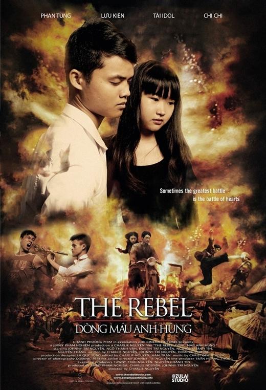 """Với """"Dòng máu anh hùng"""" - bộ phim """"để đời"""" của Ngô Thanh Vân và Johnny Trí Nguyễn cũng được các học viên này hài hước chế lại."""
