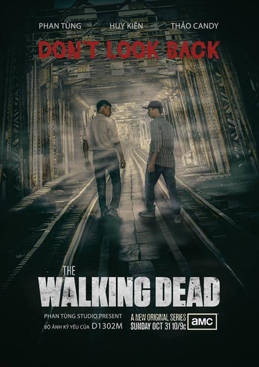 """Bộ phim điện ảnh bom tấn """"The Walking Dead"""" được các bạn sinh viên trường Arena Multimedia thực hiện trên cầu Long Biên nhưng trông cũng cực kỳ chuyên nghiệp."""