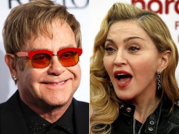 Elton John cũng không mấy bận tâm khi thẳng thừng chê Madonna: 'Cô ta là cả một ác mộng. Sự nghiệp của cô ấy hết thời rồi, tôi có thể nói thế. Tour lưu diễn của cô ấy là một thảm họa... và cô ấy trông như một vũ công thoát y'.