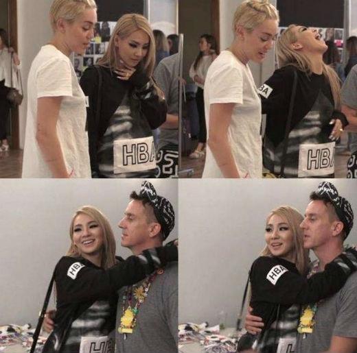 Hình ảnh thân thiết của Miley và CL