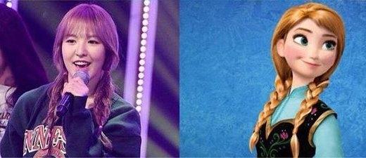 Trong phiên bản công chúa băng giá Irene thì vai diễn cô em Anna được giao cho Wendy là tuyệt vời nhất.