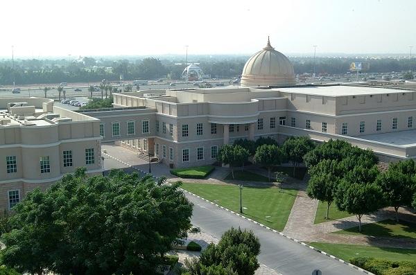 Toàn cảnh khuôn viên đại học American ở Dubai.