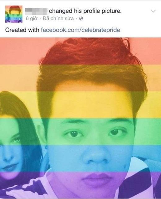 Hình ảnh màu 'lục sắc' của cộng đồng LGBT đang 'ngập tràn' trên mạng xã hội.