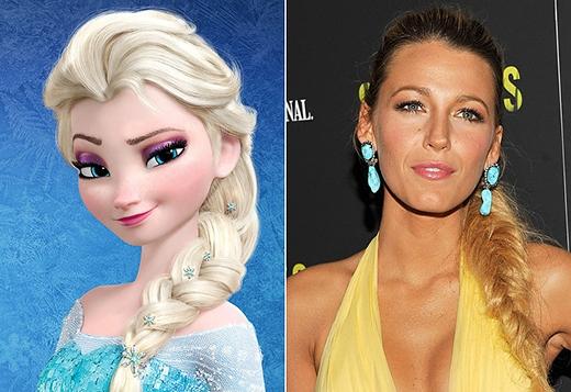 Với mái tóc thắt bím một bên, Blake Lively hoàn toàn có thể 'thủ vai' nữ hoàng Elsa lạnh lùng trong bộ phim Frozen.