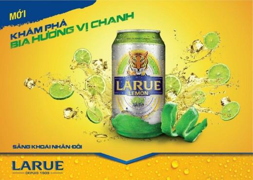 Tháng 6 này, VBL sẽ chính thức ra mắt Larue Lemon – bia hương vị chanh lần đầu tiên tại Việt Nam