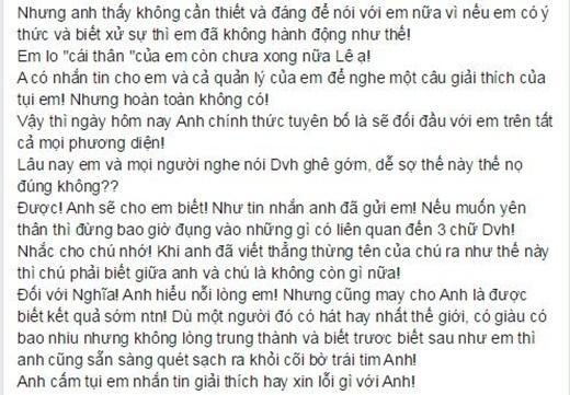 Bức 'tâm thư' đầy căm phẫn của Đàm Vĩnh Hưng mới vừa được đăng tải trên trang cá nhân - Tin sao Viet - Tin tuc sao Viet - Scandal sao Viet - Tin tuc cua Sao - Tin cua Sao