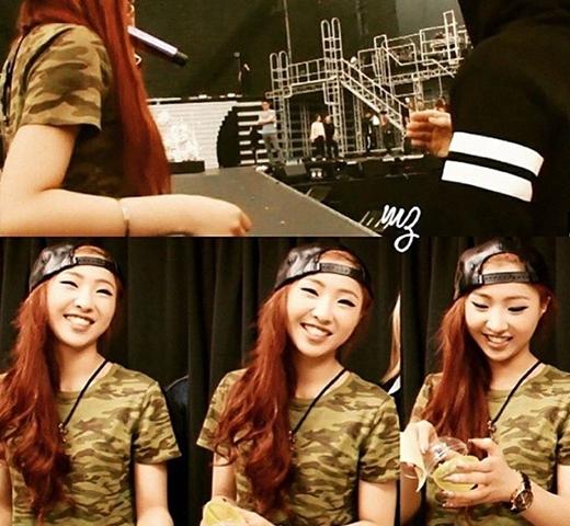 Minzy khoe ảnh cực tươi và nói rằng: 'Nụ cười là đường cong đẹp nhất trên người phụ nữ'.