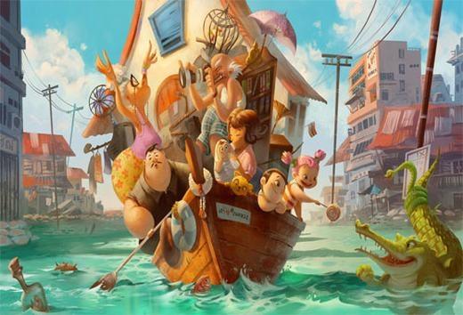 Thử tưởng tượng bạn đang đi trên một con thuyền giữa một dòng sông đầy thú dữ như cá sấu, trăn khổng lồ… Bỗng dưng thuyền bạn bị một con cá sấu đâm thủng lỗ và nước tràn vào. Thuyền đang chìm dần, mọi người la lớn… bạn phải làm gì lúc này?