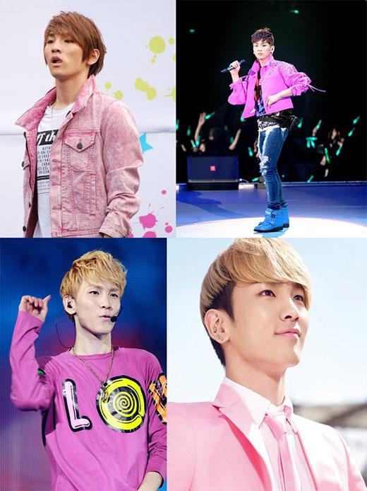 Nếu là fan của SHINee, chắc chắn sẽ biêt được Key chính là 'tín đồ' của màu hồng. Nhiều lần anh đã khiến fan 'mê mẩn' khi diện nguyên cây hồng lên sân khấu. Mặt khác anh chàng còn rất thích phong cách nữ tính và diện những trang phục có màu sắc sặc sỡ.