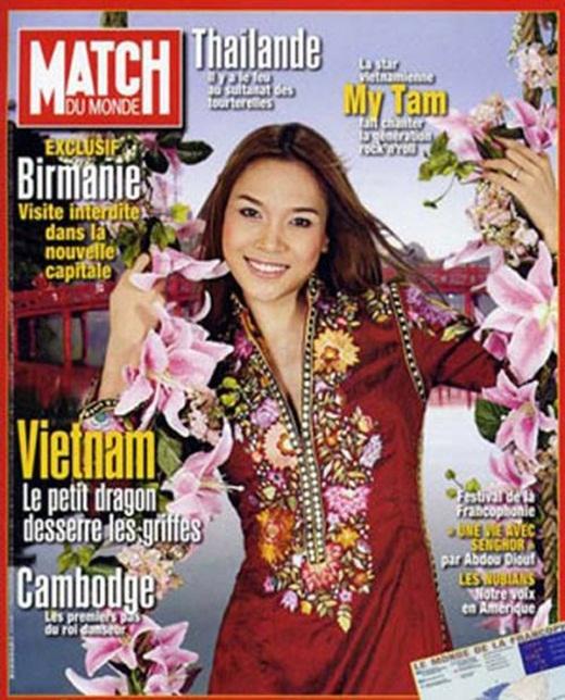 """Mỹ Tâm trên trang bìa tạp chí Match Du Monde của Pháp. Trước đó, cô cũng từng lọt vào danh sách """"12 hiện tượng Pop toàn cầu mà bạn có thể chưa biết"""" do trang ABC News của Mỹ bình chọn. - Tin sao Viet - Tin tuc sao Viet - Scandal sao Viet - Tin tuc cua Sao - Tin cua Sao"""