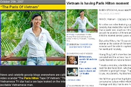 Thế nhưng, thời điểm scandal xảy ra vào năm 2007, rất nhiều trang tin của Mỹ như BBC, The Sun, The Hollywood,… đã đồng loạt đưa tin về cô. - Tin sao Viet - Tin tuc sao Viet - Scandal sao Viet - Tin tuc cua Sao - Tin cua Sao
