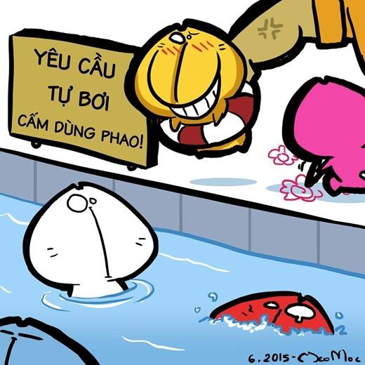 Tự 'bơi' vẫn là an toàn nhất!