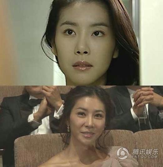 Han Eun Jung khi xuất hiện trong lễ trao giải gần như tượng sáp di động.