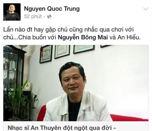 Nhạc sĩ Quốc Trung chia buồn cùng gia đình cố nhạc sĩ. - Tin sao Viet - Tin tuc sao Viet - Scandal sao Viet - Tin tuc cua Sao - Tin cua Sao