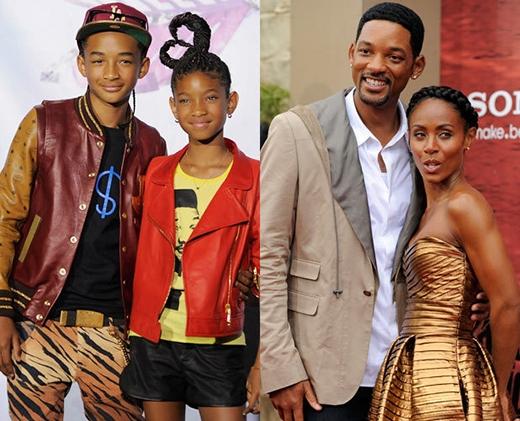 """Willow và Jaden Smith, những đứa trẻ nhà Will Smith đã sớm được công nhận là những ngôi sao thực thụ khi Willow phát hành bài hát Whip My Hair và đã trở thành một trong những hit """"khủng"""". Jaden lại quá nổi tiếng trong lĩnh vực điện ảnh thông qua các bộ phim Karate Kid, After Earth."""