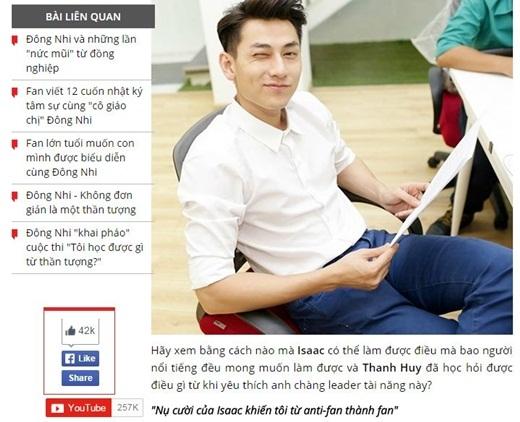 Bài viết của bạn Thanh Huy đã may mắn nhận được nhiều lượt yêu thích nhất với hơn 42.000 lượt thích. - Tin sao Viet - Tin tuc sao Viet - Scandal sao Viet - Tin tuc cua Sao - Tin cua Sao