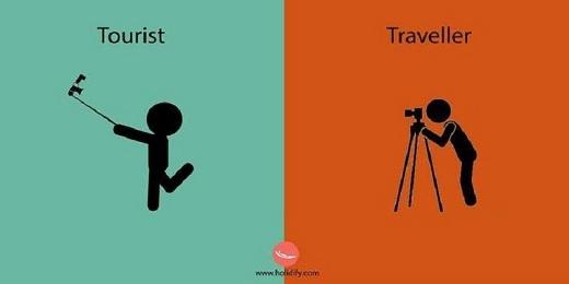 Khách du lịch thích dùng gậy selfie - nhanh, gọn, lẹ; trong khi phượt thủ thích ghi lại những khoảnh khắc đẹp của thiên nhiên và con người trên đường đi.